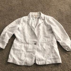 Michael Kors 3/4 sleeve Linen Blazer Sz 16